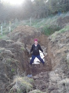Pond extension (with a lot of help from a JCB)
